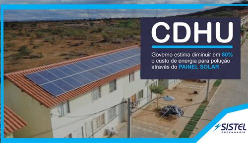 Casas do CDHU vão utilizar energia solar