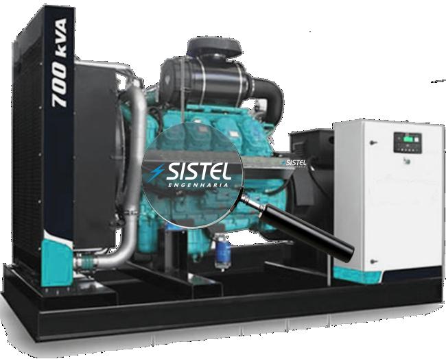 Imagem de gerador de energia da Sistel engenharia