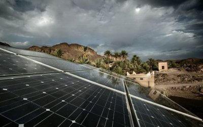 Painel solar é eficiente em dias nublados e chuvosos