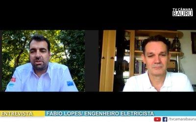 Fábio Lopes, da Sistel, fala sobre energia solar para a Rádio e TV Câmara