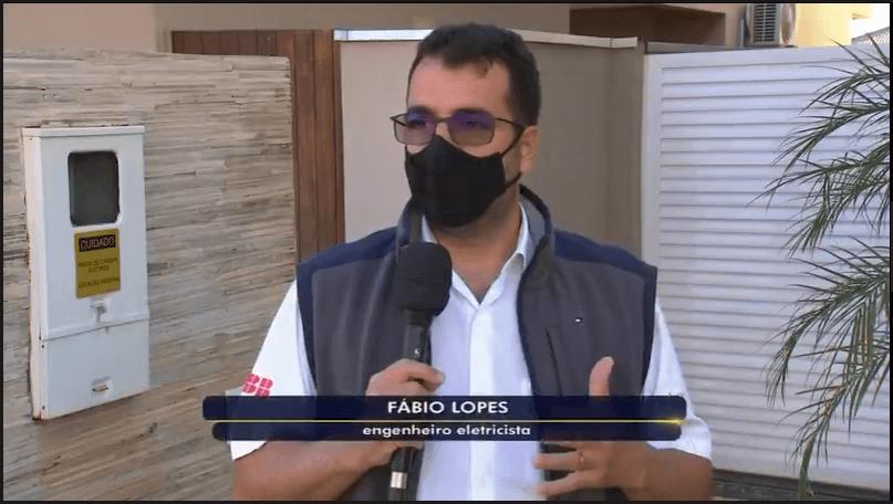 Diretor da Sistel Engenharia, Fábio Lopes, fala sobre crise hídrica para a TVTEM
